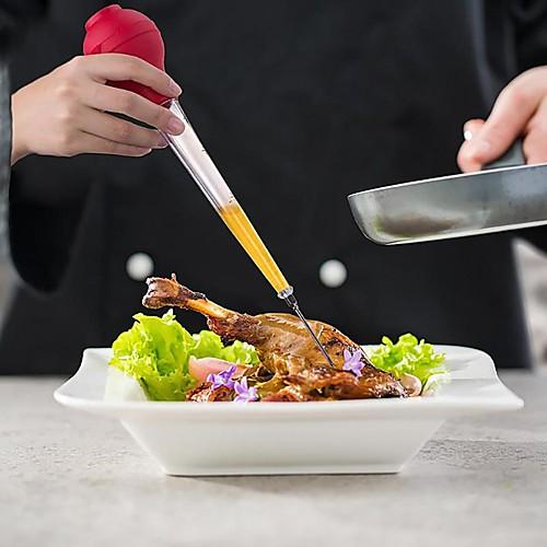Индейка шприц-бастер для измерения вкуса инжектор соус соус приправа 30 мл труба для барбекю мясной бастер FDA одобрено фото