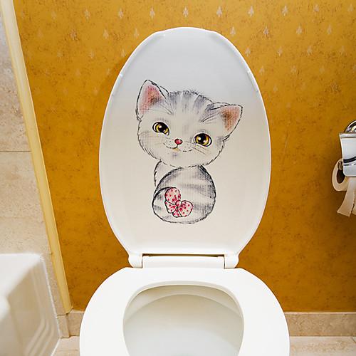 Наклейки для кошек - наклейки на стену для животных / ванная комната / детская комната фото