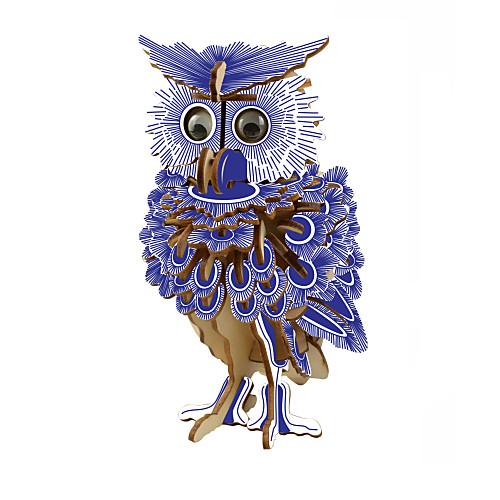 3D пазлы Пазлы Деревянные пазлы Сова Своими руками 1 pcs Детские Взрослые Универсальные Мальчики Девочки Игрушки Подарок фото