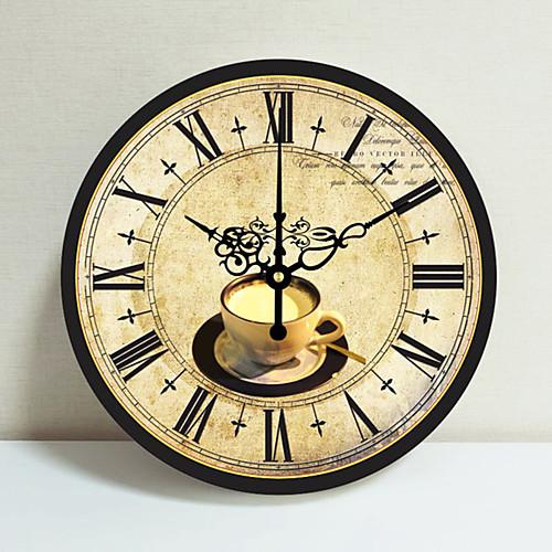 Средиземноморский европейский сельский пастырское ретро гостиная настенные часы творческий простой украшения немой настенные часы 1 упаковка фото