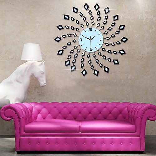 Большие модные настенные часы современный дизайн домашнего декора настенные часы гостиная спальня немой часы настенные металлические цифровые настенные часы фото