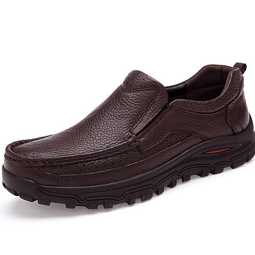 Муж. Комфортная обувь Полиуретан Наступила зима Мокасины и Свитер Черный / Коричневый фото