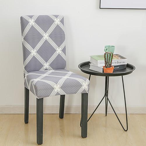 Геометрическая сетка чехлы на стулья стрейч съемный моющийся столовая стул протектор чехлы домашний декор столовая чехлы на сиденья фото