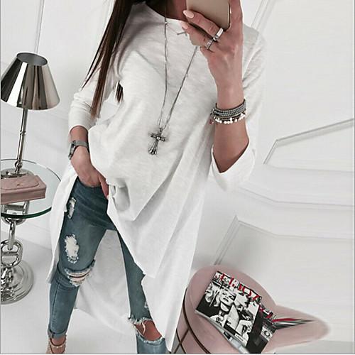 lightinthebox / Mujer Blanco Negro Vestido Recto Color sólido S M
