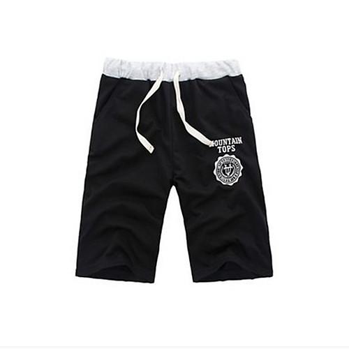 lightinthebox / Homens Shorts de Corrida Calções atléticos Calções De Treino Esportes Shorts Calças Corrida Exercício e Atividade Física Casual Simples Preto Cinzento Claro