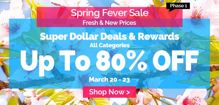 Spring fever sale up to 80% off all categories at Lightinthebox.com