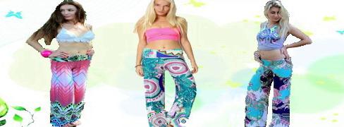 Moda Günlük Pantolonlar Colourful