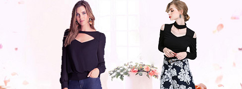 Women's Fashion Hollow Out Tops