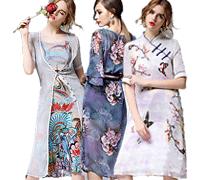 Elegant Floral Painted Dresses