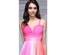 Платья с разными цветами и орнаментами
