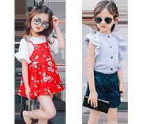 Girls' Short Sleeve Clothing Sets