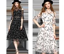 Nye og trendy kjoler i europæisk stil