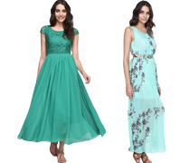 Schöne elegante Kleider
