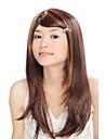 escuras e sem tampa sintético marrom com peruca de cabelo dourado reta (jf1004)