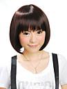 capless courte perruque brune cheveux synthétiques bob (jf1117)