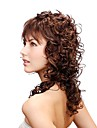 Capless Long Synthetic Brown Curly Hair Wig