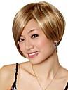 Capless korta gyllenbrun med blont syntet bob hår peruk