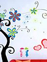 snygg blomma Väggklistermärke (0732-XM-jj-014)