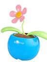 Solar Powered Flip Flap Flower Plant-Blue