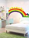 för regnbåge vävstol barn väggklistermärke (0752 -p6-27 (b))