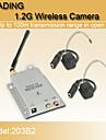 1,2 GHz deluxe säkerhet CCTV trådlösa CMOS färg video och AV-mottagare