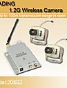 nya 1,2 GHz säkerhet CCTV trådlösa CMOS färg video kamera och video-mottagare