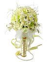 Elegant Yellow/ Green Round Wedding Bouquet/ Bridal Bouquet With Chiffon Beads Decoration