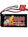 emax 2200mAh 3s 11,1 30c li-polymer batteri med t-stik (ex0025)