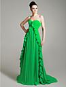 Formal Evening Dress - Plus Size / Petite A-line / Princess Strapless / Sweetheart Court Train Chiffon
