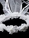 satin / dantelă cu imitație perla de nunta floare fata headwreath