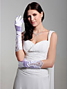 Satin Fingertips Elbow Length Bridal Gloves