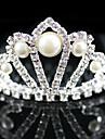 Jeune bouquetière Alliage / Imitation de perle Casque-Mariage / Occasion spéciale Tiare Clair Carée