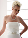 cetim casamento / bridal faixa frisada