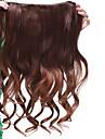 long clip en synthétique de qualité forte extension cheveux bouclés deux couleurs disponibles