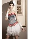 satin fara bretele de închidere Busk fata corsete ocazie specială shapewear