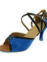 tissu supérieur avec des chaussures de danse de ceinture en simili-cuir des chaussures de bal pour les femmes latino-
