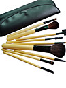 9 st professionell makeup Brush Set med gratis läderväska