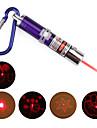 4 i 1 röd laser LED-nyckelring - lila