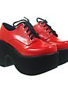 """4 """"cône de la plate-forme du talon PU chaussures lolita"""