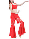 Belly Dance Outfits Women's Training Lace Black / Blue / Fuchsia / Red / Yellow Belly Dance Spring / Summer / Fall Sleeveless Dropped