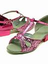 pétillante paillettes supérieure chaussures roses chaussures danse de salon latin pour les enfants des couleurs plus