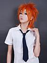 Cosplay Peruker Cosplay Cosplay Orange Kort Animé Cosplay-peruker 35 CM Värmebeständigt Fiber Man