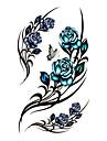 #(5) Tatueringsklistermärken Blomserier Mönster VattentätDam Tjej Tonåring Blixttatuering tillfälliga tatueringar