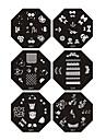 ongles de timbre d'art emboutissage image de la plaque modèle de série Q 7