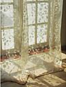 européenne salon florales botaniques beige deux panneaux voilages nuances