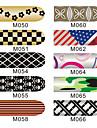 16pcs ongles armures d'art feuille enveloppe de patch autocollants de manucure
