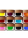 12 färgad glasyr Builder Gel nail art 8ml