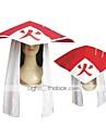 Chapeau/Casquette Inspiré par Naruto Hokage Anime Accessoires de Cosplay Mancherons / Chapeau Blanc / Rouge Coton Féminin