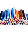 50pcs 3d canne à tige bâton autocollant nail art décoration-ensembles en forme de coeur