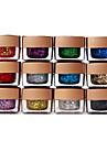 12 x blanda färger glitter UV Builder Gel nail art 8ml